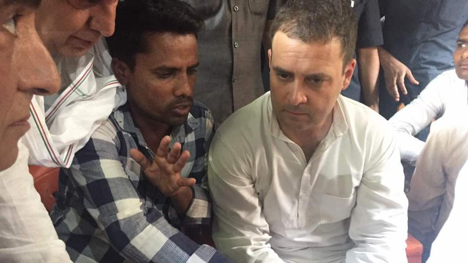 Rahul Gandhi stopped from entering Saharanpur,  blames Centre for Dalit-Thakur clashes
