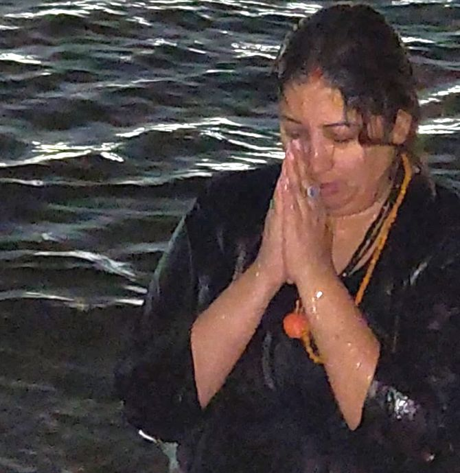 When Smriti Irani took a holy dip in Ganga to mark Kumbh