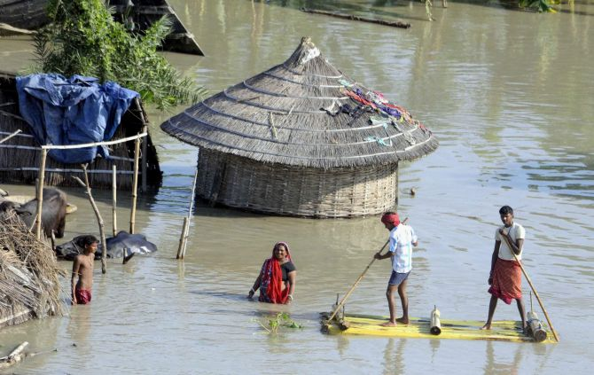 Flood situation continues to be grim in Bihar