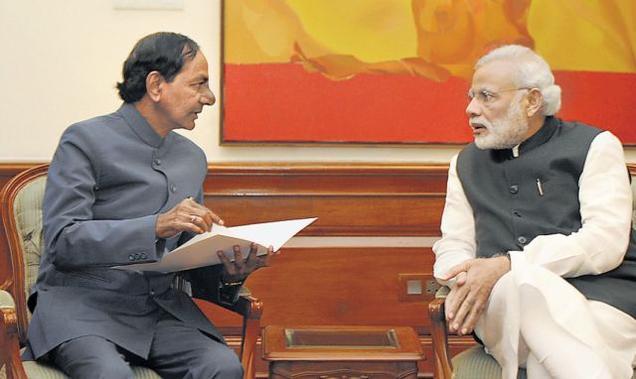 KCR meets Modi, seeks sops for Telangana State