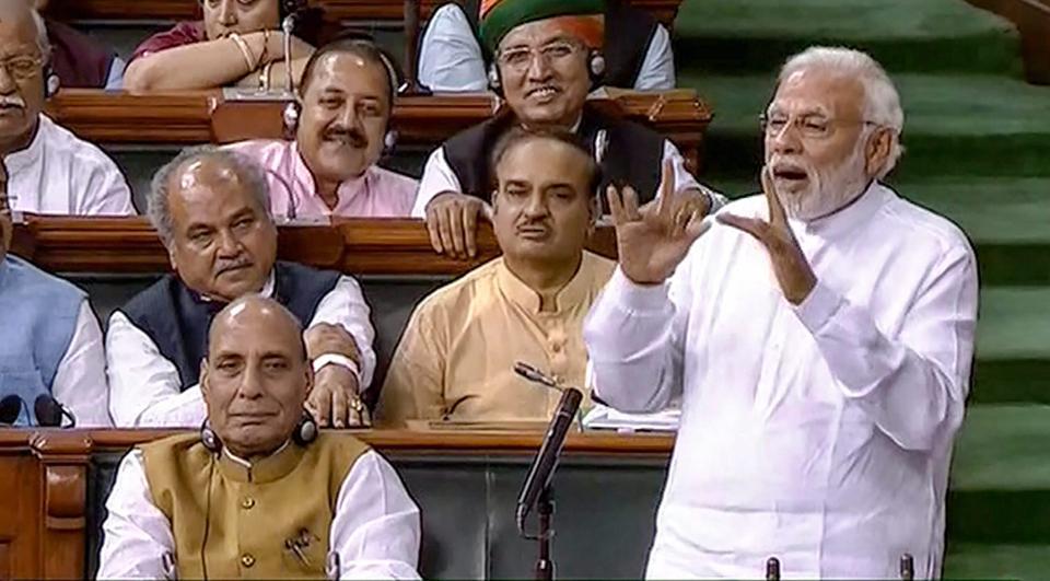BJP led NDA govt wins No Confidence motion in Lok Sabha
