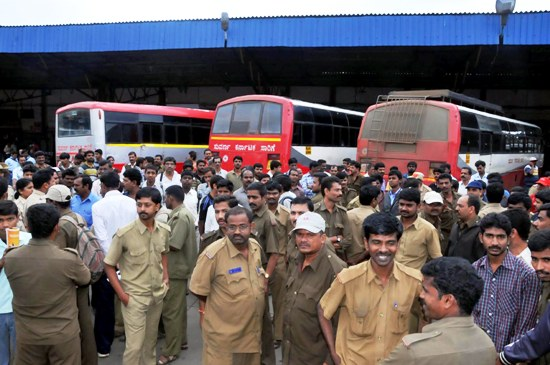 Bengaluru comes to a halt as KSRTC strike enters 2nd day