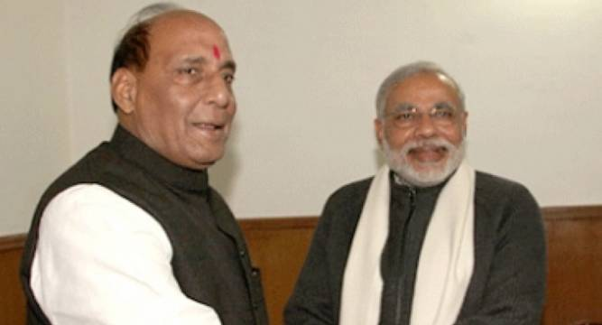 PM greets Rajnath Singh on birthday