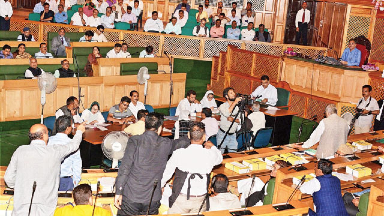Uproar in J&K Assembly, Governor