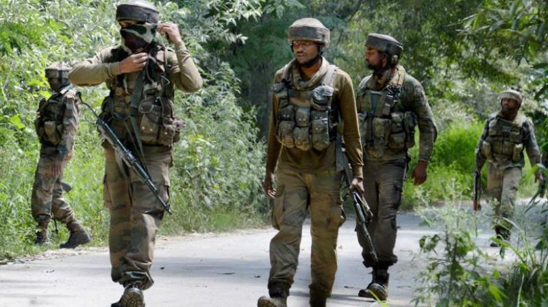Security forces kill three terrorists in J&K