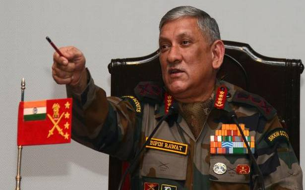 Misinformation compels youngsters to pick up arms in J-K: Bipin Rawat