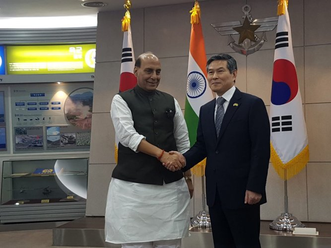 Rajnath holds talks with South Korean counterpart to boost defence ties