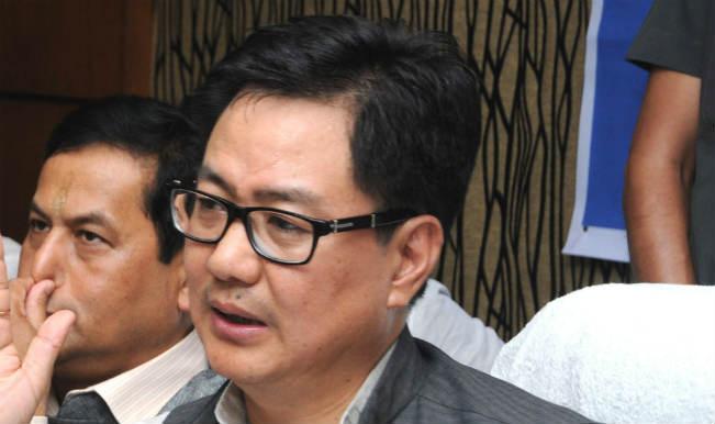 Kiren Rijiju slams politicians, intellectuals helping