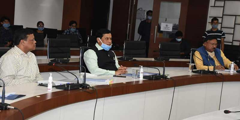 Assam CM Sarbananda Sonowal reviews flood situation with top officials