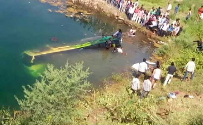 13 Killed, 17 Others Injured As Bus Falls In Water Pit In Madhya Pradesh