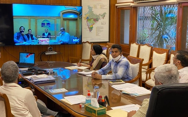 Union Jal Shakti Minister holds discussion with Himachal Pradesh Chief Minister on Jal Jeevan Mission