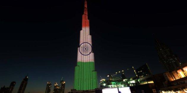 Burj Khalifa Gets A Tri-Colour Makeover To Celebrate India