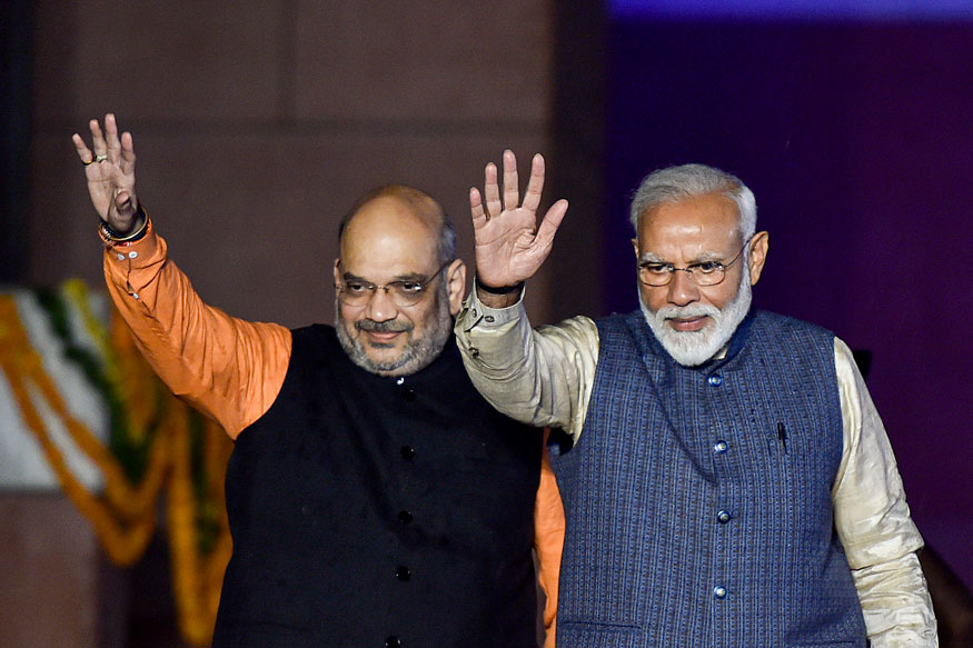 Modi meets Amit Shah ahead of government formation