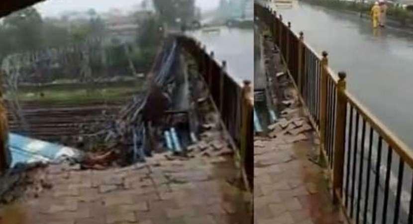 Footover bridge collapses in Andheri