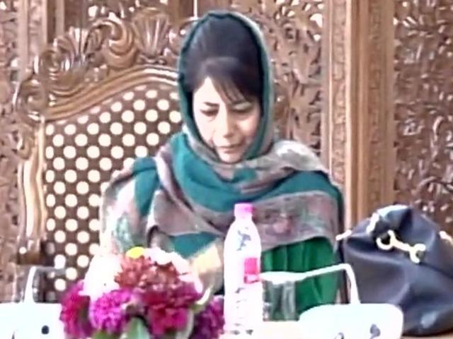 J&K CM Mehbooba Mufti chairs crucial security meeting in Srinagar