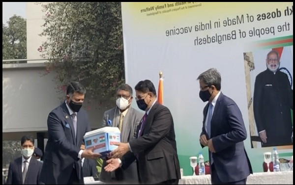 India Hands Over Two Million Doses of Corona Vaccine as Gift to Bangladesh
