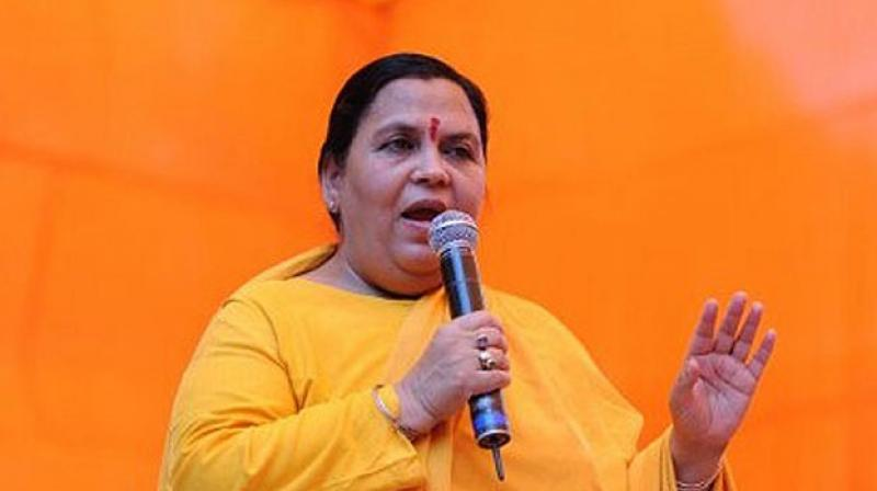 Congress joined hands with Pakistan, conspiring to defeat PM Modi: Uma Bharti