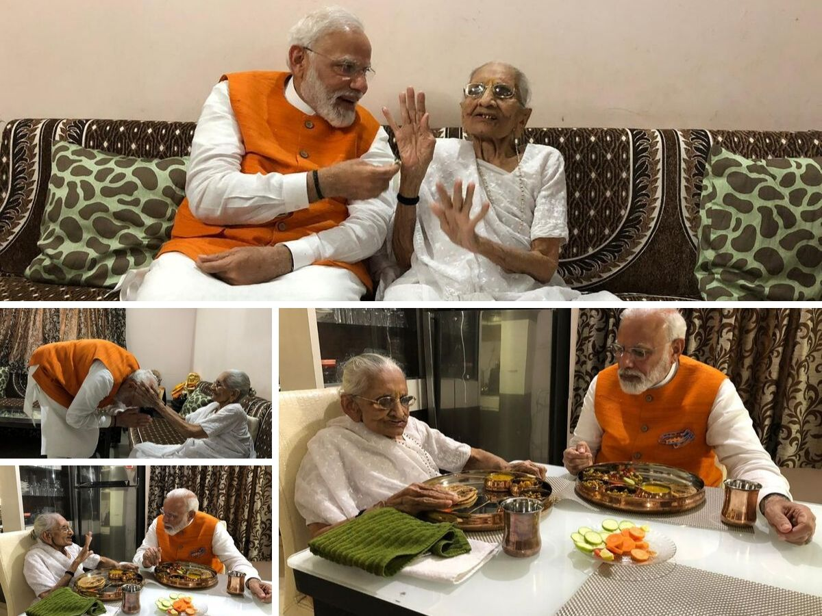 PM Modi 69th birthday: PM Modi meets mother over lunch, seeks blessings
