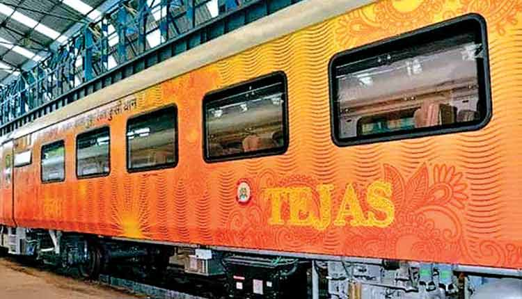 Lucknow-Delhi Tejas Express AC car fare Rs.1,125