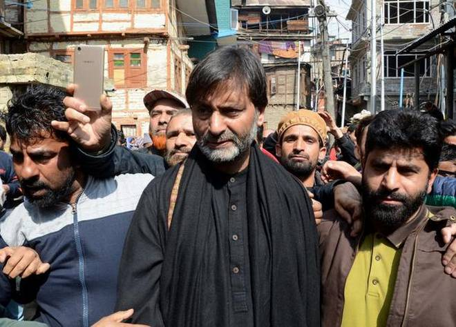 JKLF chairman Yasin Mali detained in Srinagar