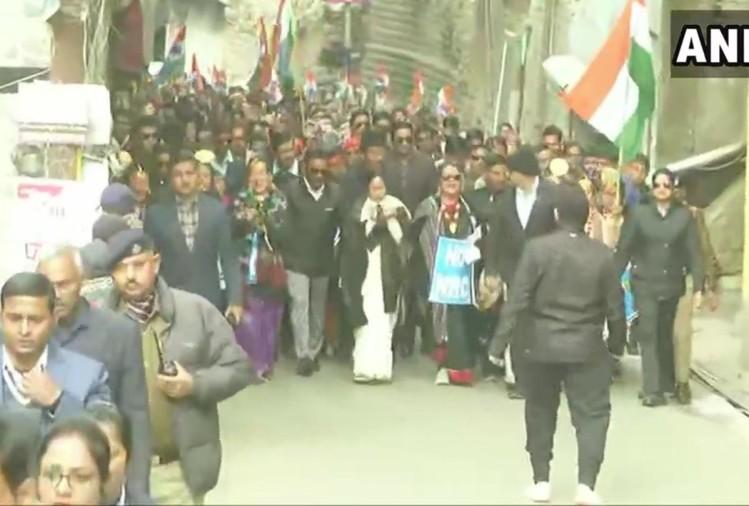 Mamata Banerjee leads anti-CAA march in Darjeeling hills
