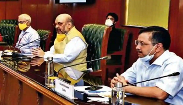 Amit Shah meets CMs of Delhi, UP and Haryana to discuss ways to fight virus in NCR