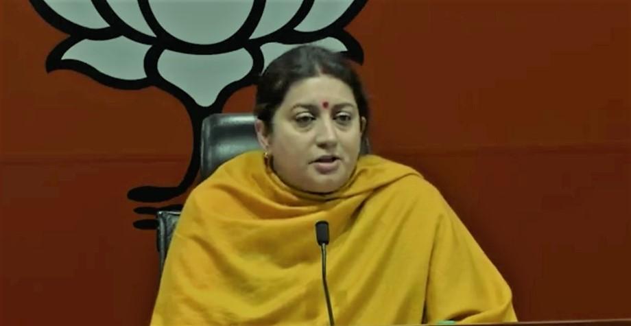 Smriti Irani calls Navjot Singh Sidhu modern India