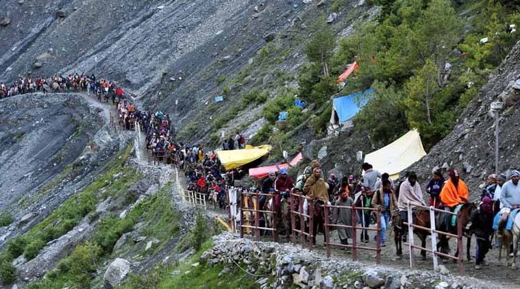 Nearly 1,10,000 yatris pay obeisance at Amarnath cave shrine