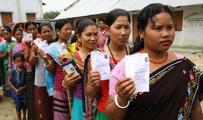Twenty percent polling recorded  in Assam