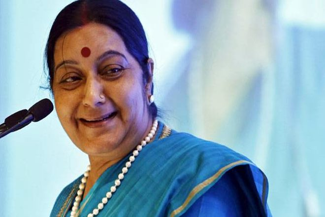 Sushma Swaraj discusses Siang river issue with Wang Yi