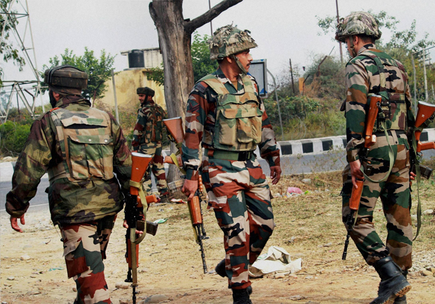 Gunfight raged between unidentified terrorists and security forces in Nowgam area in Srinagar