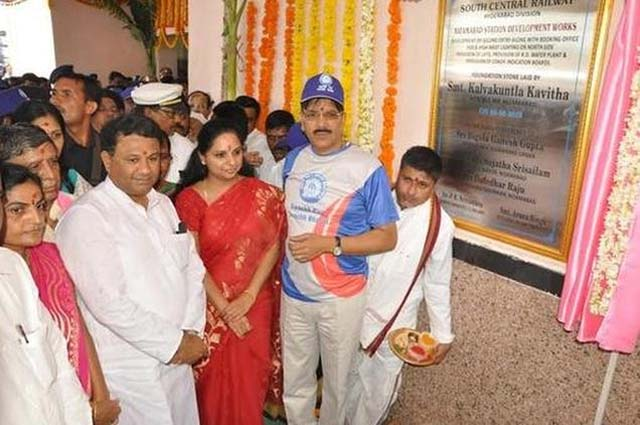 Peddapally railway line will be completed this year: MP Kavitha