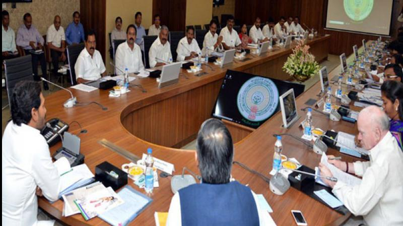 Jagan Reddy holds his first cabinet meeting with 25 ministers