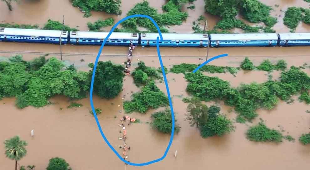 Maharashtra govt seeks airlift of passengers stranded in train stuck Due to heavy rains