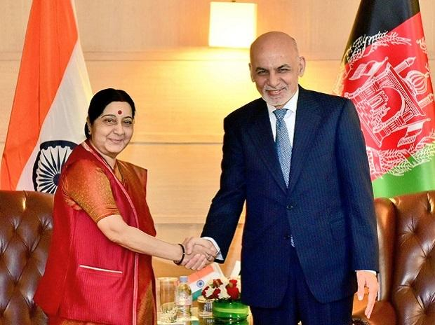 Ashraf Ghani Meets With President Kovind, EAM Sushma Swaraj