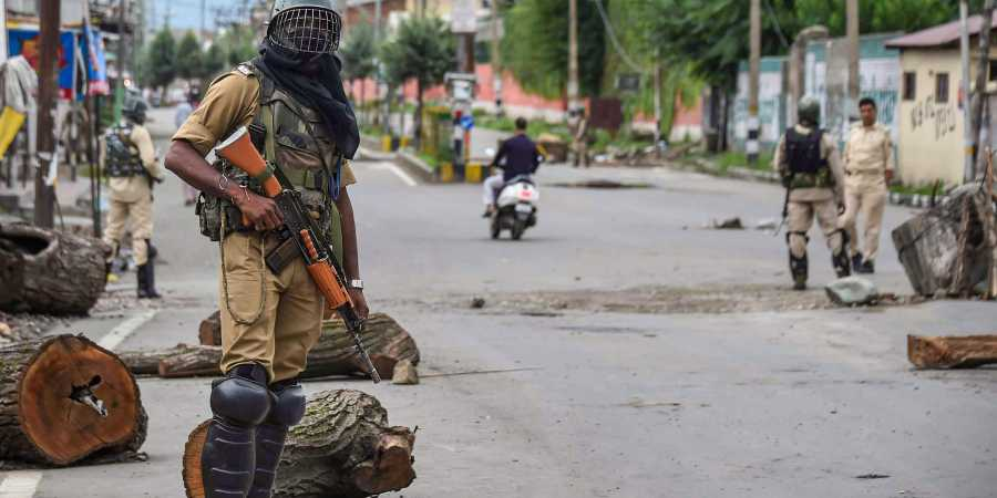 Authorities re-imposed restrictions in parts of Srinagar