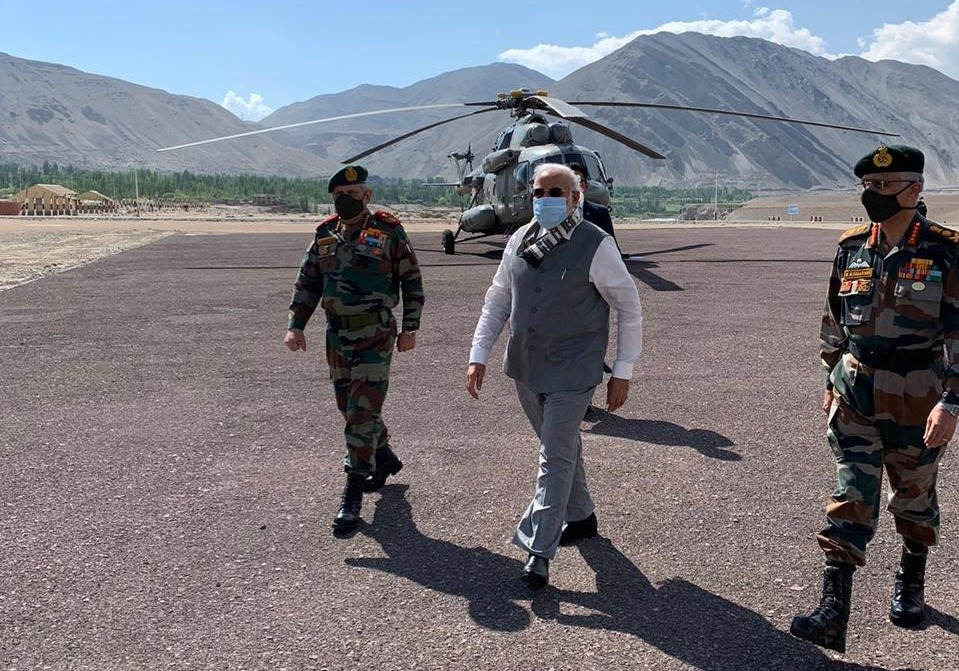 PM Modi reaches Ladakh on surprise visit
