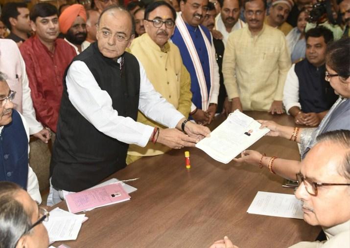 FM Arun Jaitley files nomination for Rajya Sabha polls ifrom UP