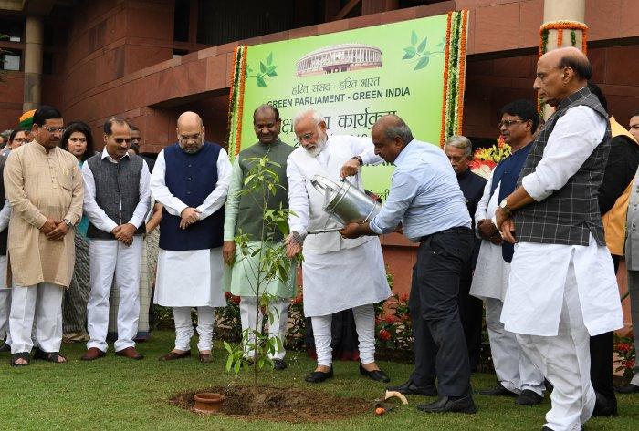 Modi participates in tree plantation drive
