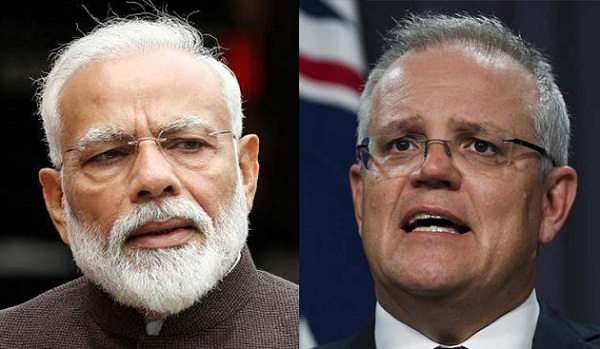 PM Modi Holds Telephonic Conversation with Australian PM Scott Morrison