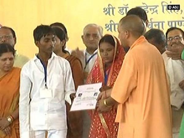 Uttar Pradesh CM Yogi Adityanath attends mass marriage in Sonbhadra