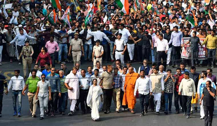 Mamata Banerjee leads mega protest rally, vows not to allow NRC, Citizenship law in Bengal