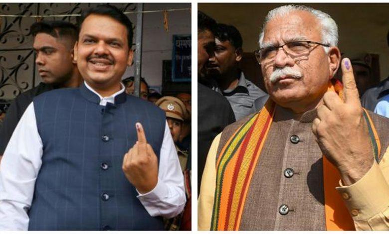 Exit polls indicate BJP victory in Maharashtra, Haryana