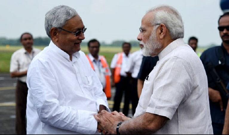 PM Modi Takes Aerial Survey Of Flood-Hit Bihar; Announces Rs. 500 Crore Relief