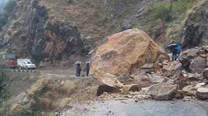 Landslide blocks J-K highway