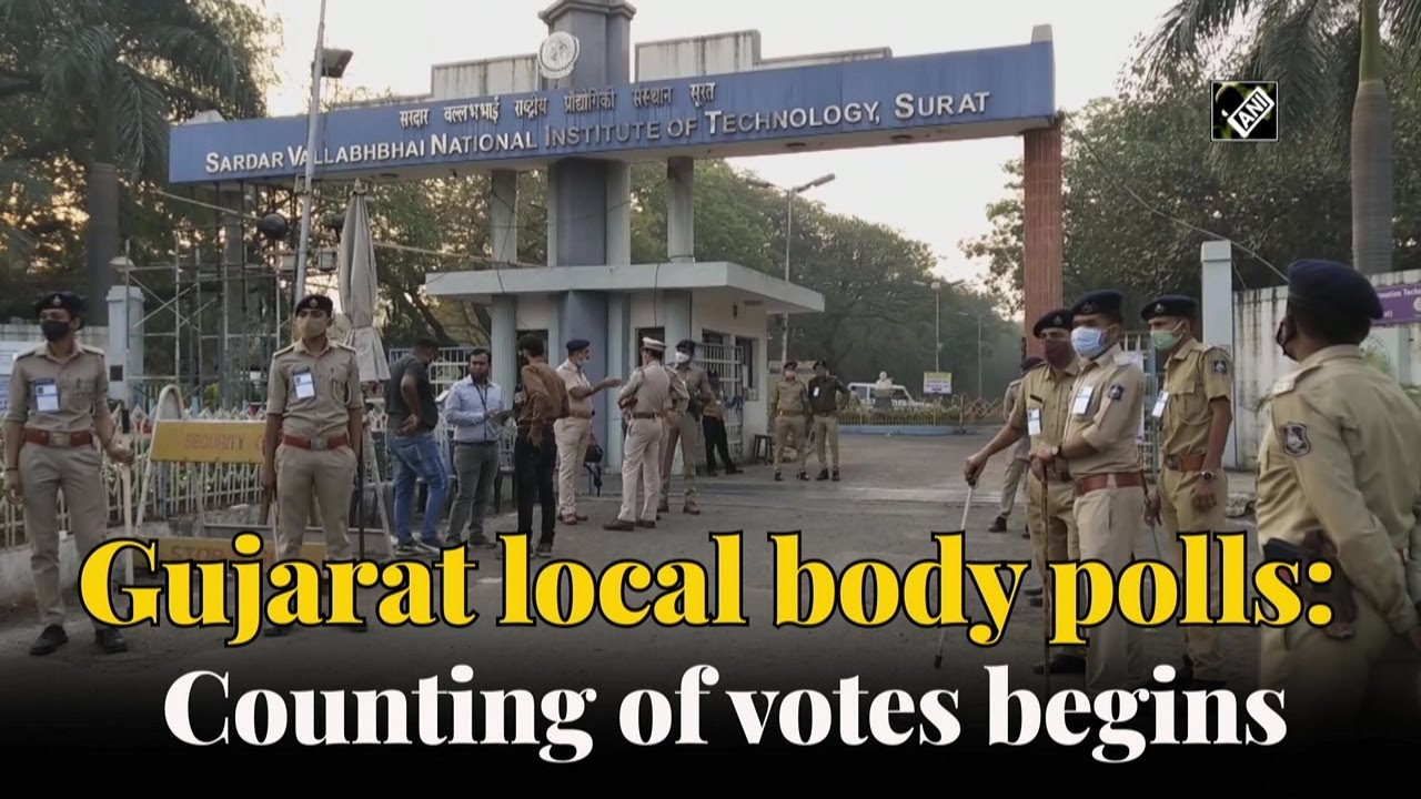 Counting of votes for local body polls underway in Gujarat