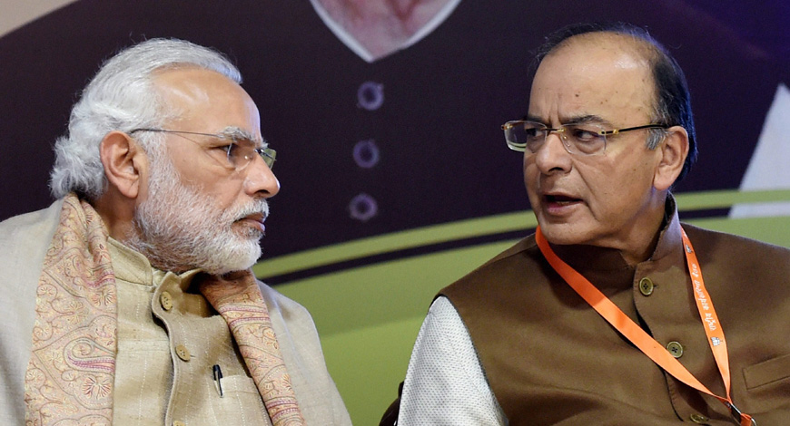 PM Modi meets Arun Jaitley at his residence