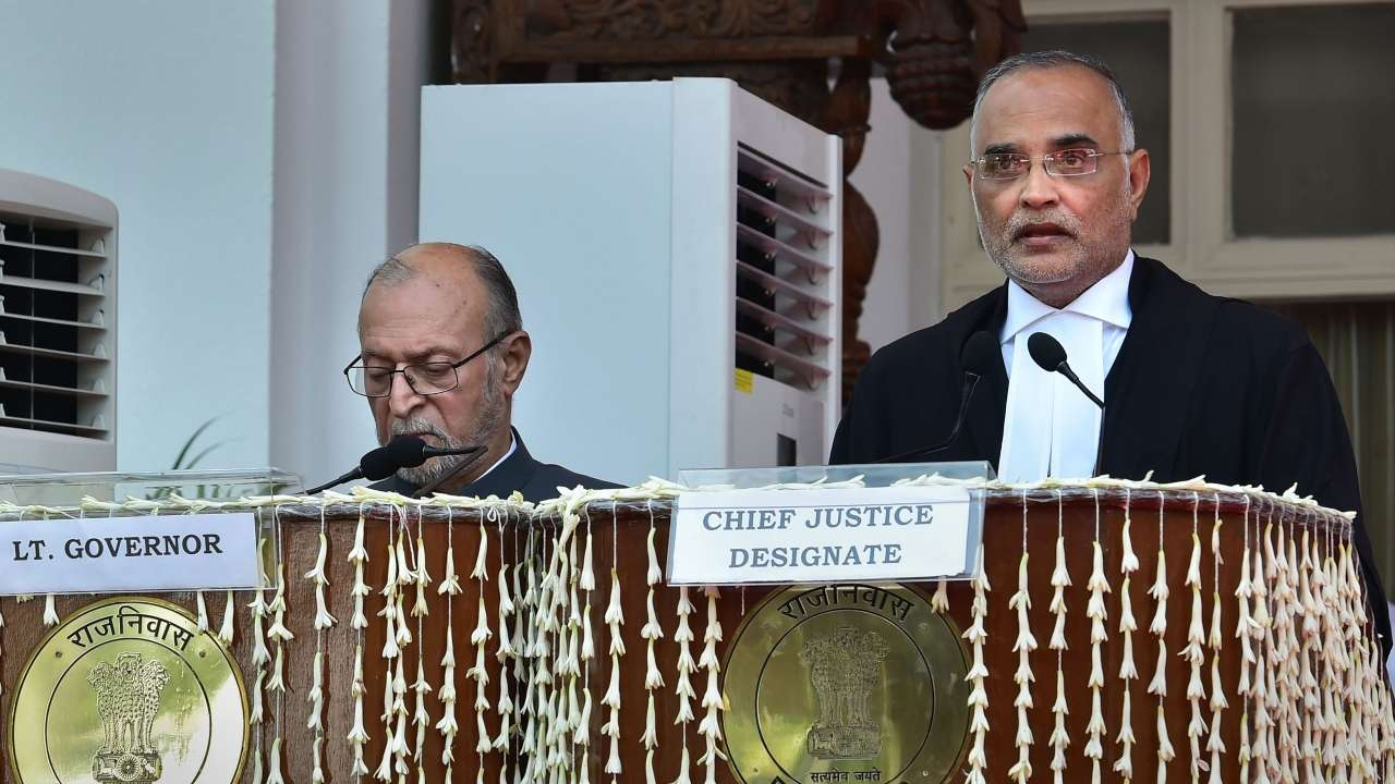 Dhirubhai Patel takes oath as Chief Justice of Delhi HC