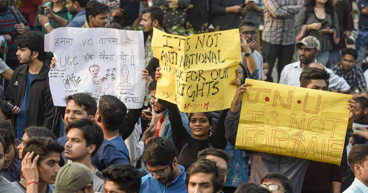 JNU visually challenged students say not being allowed to protest outside police HQ