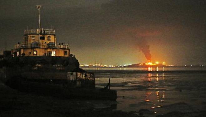 Fire breaks out at oil depot on Butcher Island near Mumbai